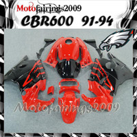 Cheap red black for honda CBR600 F2 91 92 93 94 91-94 Years ABS Plastic Bodywork Set CBR600F2 CBR 600 F2 600F2 1991 1992 1993 1994 ABS Fairings Se