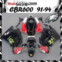 Cheap for honda CBR600 F2 91 92 93 94 91-94 Years ABS Plastic black Bodywork Set CBR600F2 CBR 600 F2 600F2 91 94 1991 1992 1993 1994 Fairing Body