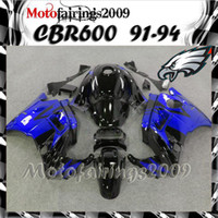 Cheap for honda CBR600 F2 91 92 93 94 91-94 Years blue black ABS Plastic Bodywork Set CBR600F2 CBR 600 F2 600F2 91 94 1991 1992 1993 1994 Fairing