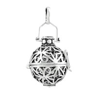 Wholesale 5 Harmony Bola locket Pendant angel caller pendant Pregnancy vintage Sterling Silver Cage H047