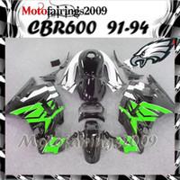 Cheap green white for honda CBR600 F2 91 92 93 94 91-94 Years ABS Plastic Bodywork Set CBR600F2 CBR 600 F2 600F2 91 94 1991 1992 1993 1994 Fairing