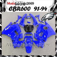 Cheap blue for honda CBR600 F2 91 92 93 94 91-94 Years ABS Plastic Bodywork Set CBR600F2 CBR 600 F2 600F2 91 94 1991 1992 1993 1994 Fairing Body W