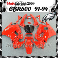 Cheap red for honda CBR600 F2 91 92 93 94 91-94 Years ABS Plastic Bodywork Set CBR600F2 CBR 600 F2 600F2 91 94 1991 1992 1993 1994 Fairing Body W1