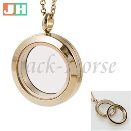 High quality 25mm Water Proof 316L stainless steel screw locket rose gold floating charm locket free shipping