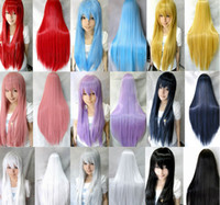 Cheap Cool2day Fashion Style Heat Resistant Long Straight Anime 80cm Multi-Color Hair Wig Cosplay Party Wigs (Model:JF011154)