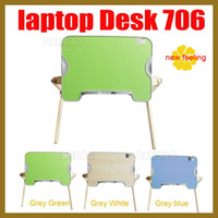 Cheap Fashion Laptop table Notebook Computer desk Folding Desk bed stand Wooden Stylish and Practical Convenient to use in bed
