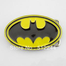 Wholesale Only belt buckle New Western Superhero Dc Comics Batman Black Yellow Classic Men s Metal Belt Buckle