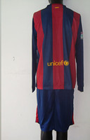 Wholesale New Barcelona Home Long Sleeve Jersey For Customized Adult Kits With Good Quality in Size S to XL