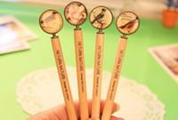 Wholesale 2014 cute serenade Mini wooden ball pen dandys