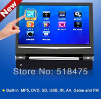 Cheap car Free shipping 9 Inch Headrest TFT-LCD Monitor, Built In DVD, MP5 Player With Touch Screen