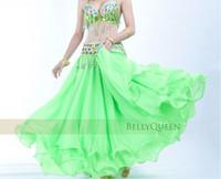 Cheap 10pcs lot 12m BELLY DANCE TRIBAL GYPSY ATS RENAISSANCE PIRATE WENCH chiffon COSTUME dancing large SKIRT dress 3 layer 13color