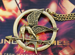 Wholesale Hunger games Laugh at the bird Pendant Necklace The bow of anger