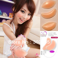 Cheap Free shipping 200pairs lot 1pair=2pcs Silicone Bra Gel invisible inserts Pads Push Up Enhancer Breast super stickiness,no harm