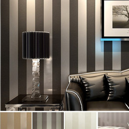 Modern Black Wallpaper Striped Purple And Silver Glitter Wall Paper Roll For Wall Living room Bedroom TV Sofa Background R103