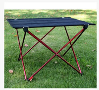 Wholesale ultra light big folding picnic table outdoor aluminum alloy table foldable camping table Large size cm