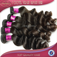 Wholesale 6A Peruvian Hair Bundles Loose Wave High quality luxy human hair extension double wefts free shedding no tangle inch to inch