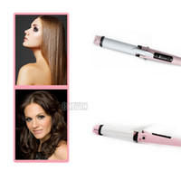 Wholesale 2 in Instant Heat Straightening Irons Hair Straighter Roller Electric Hair Curler Beauty Set Iron Styling Tools HSC02 H56