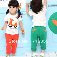 Cheap Wholesale-Free Shipping! 2013 summer boys and girls Cartoon suits, short-sleeved T-shirt Children's clothing Wholesale 5pcs lot