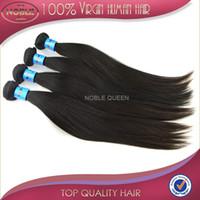 "Cheap Grade 5A Straight Hair Weave Peruvian Indian Malaysian Brazilian Russian Mongolian 3 bundles Natural hair color black 12""-28"""