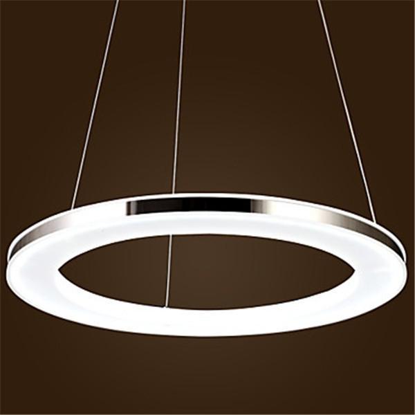 Round Hanging Light: Modern Led Round Acrylic Pendant,1 Light Pendant Light, Modern Chic  Stainless Steel Plating 15w Chrome Finish 90 240v Multi Light Pendants  Traditional ...,Lighting