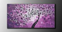 Сливы серии 100% чисто ручной росписью Современный домашний декор номеров Зал искусства стены Изображение Толстые цвета мастихином живопись маслом на холсте JL027