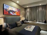 Абстрактные серии Ручная роспись Высокое качество гостиной Бюро современного декоративного искусства Холст Mural Толстая картина маслом ножа JL293