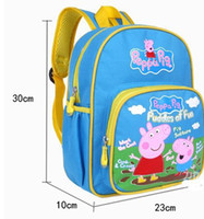 Backpacks Polyester Men 20pcs 2014 New hot Peppa Pig School bag for Boys girls with High quality
