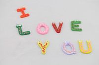 Wholesale Children s Toys Wooden Alphabet Fridge Magnets One Set have Puzzle toys for Kids Christmas gift
