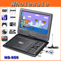 portable digital tv - 9 inch TFT LCD Screen Digital Multimedia Portable DVD With Card Reader USB Port Support Analog TV Game FM Radio NS