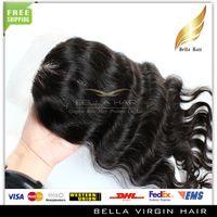 Cheap Free Shipping Brazilian Virgin Hair Closure, 4*4 Silk Base Lace Closure Brazilian Hair, Brazilian Body Wave with Closure