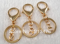 Cheap Wholesale-Wholesale10 PC Gold Metal Lobster Clasps Clips keyring