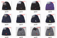 Wholesale buy Polo Wool Hat Knitting Hat Fashion Winter Warm Beanies For Men and Women Knitted Hat