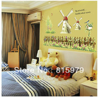 Cheap 120cm*60cm Wall sticker top buzz sitting room decorate the the head of a bed wall stickers bucolic kindergarten free shipping