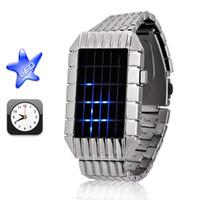 Cheap Fashion digital metal band stain steel watch men's women's silver gift lovers wrist watch fold over lock