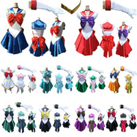 Wholesale New Anime Pretty Soldier Sailor Moon Cosplay Costume female halloween party Any Size Customized accepted