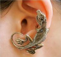 Wholesale Min order mix female lizard vintage stud earring PUNK Gothic Climbing Lizard Gecko Shape Studs Ear Cuff Earring
