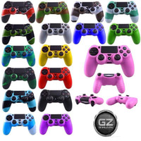 Cheap Wholesale - Soft Silicone Gel Rubber Case Skin Grip Cover For SONY Playstation 4 PS4 Controller