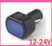 Wholesale DC V V LED Display Cigarette Lighter Electric Voltage Meter tester For Auto Car Battery Hot New