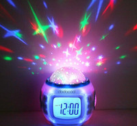 Wholesale Colorful Music Starry Star Sky Projection projector with Alarm Clock Calendar Thermometer Christmas
