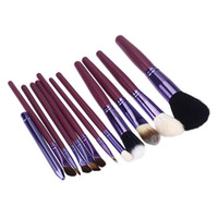 Cheap 12PCS Professional Wood Cosmetic Beauty Makeup Brushes Tools Kit Make up Cosmetics Set with Fashion Rectangular Gift box