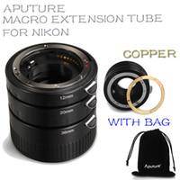 Wholesale New Aputure AC MN Macro Extension Tube Set for Nikon AI lens