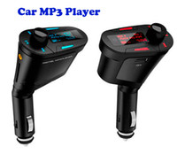 Wholesale Multi Color With LCD Car mp3 Display Remote Control Car Kit MP3 WMA Wireless Player FM Transmitter USB SD MMC SD Card USB Port Audio Cable