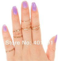 Cheap Min Order $15(Can Mix Item) Rings Urban Silver Stack Plain Cute Above Knuckle Ring Band Midi Ring