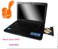 Wholesale DHL FREE cheap NEW Hot Selling Laptop With in built DVD inch Intel Dual Core D2500 D525 GHZ With Win7 System Webcam