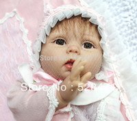 "Cheap 22"" Reborn Baby Dolls Silicone vinyl doll Kits Soft Toys Dolls New Fashion Doll"