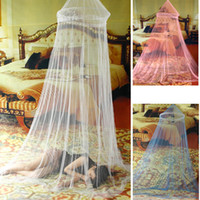 King Circular 100% Polyester Elegant Netting Bed Canopy Mosquito Net door White Curtain Nets Bedding Set Mosquiteiro Tent Mosquiteiros De Teto Magic Mesh