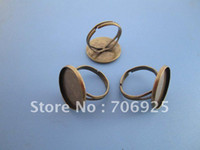 Cheap Free shipping Wholesale Adjustable Bronze Ring Blanks , ring settings 20mm 20pcs lot