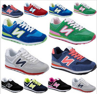 Wholesale new women and men balance quot N quot sneaker canvas shoes with rubber and breatheable tenis masculino size