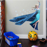 QUEEN ELSA Frozen Princess Decal Removable WALL STICKERS Kid...