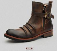cowboy boots man Martin high help high British high boots Fashion men
